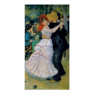 Bougivalルノアールのファインアートのプリントのダンス ポスター
