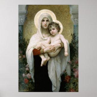 Bouguereauのバラ(1903年)のマドンナ ポスター