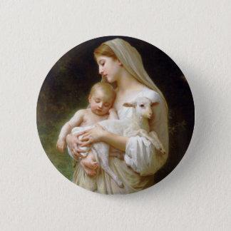 Bouguereauの潔白ボタン 5.7cm 丸型バッジ