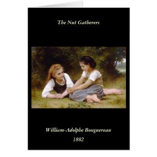 Bouguereauの1882ナットの採集のLesのnoisettes カード
