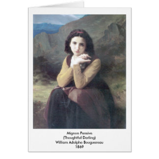 Bouguereau -華奢な沈痛 グリーティングカード