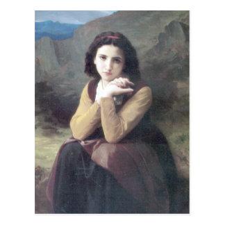 Bouguereau -華奢な沈痛 ポストカード