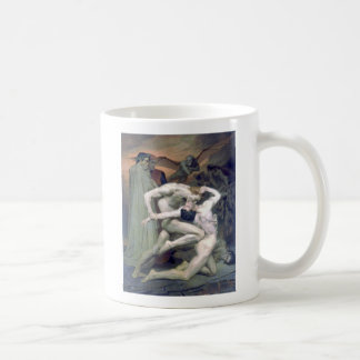 Bouguereau - DanteとVirgileのau Enfers コーヒーマグカップ