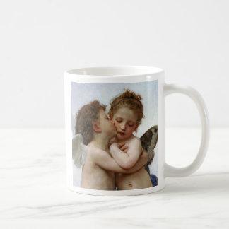 """Bouguereau , """" First kiss """" コーヒーマグカップ"""