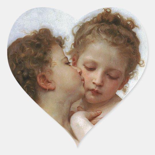 "Bouguereau , "" First kiss "" ハートシール"