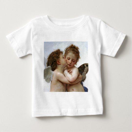 """Bouguereau , """" First kiss """" ベビーTシャツ"""