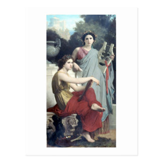 Bouguereau - L'Artとla Litterature ポストカード