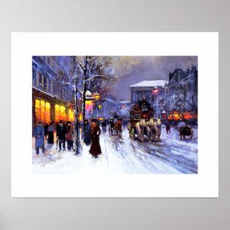 Boulevard de laマドリン、冬。 ファインアートポスター ポスター