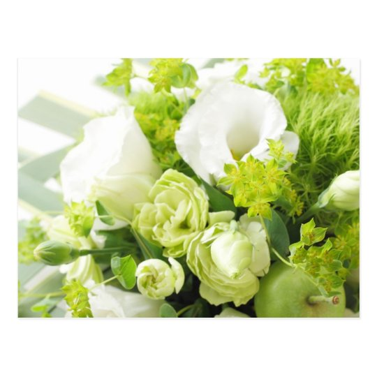 Bouquet from different white seasonal flower ポストカード