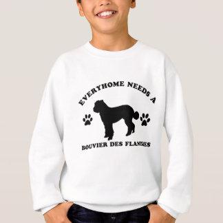 Bouvier desのflandres犬の品種デザイン スウェットシャツ