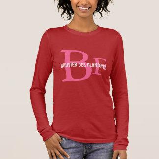 Bouvier des Flandresの品種モノグラム Tシャツ