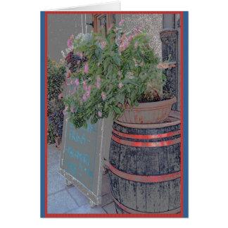 Bovec、スロベニアの花そして店先 カード