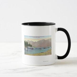 Bowenの島の連合汽船のHowe Soundの眺め マグカップ