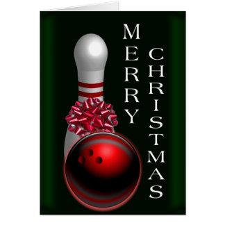 Bowling Christmas カード