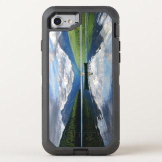 bowman湖-グレーシャー国立公園モンタナ オッターボックスディフェンダーiPhone 8/7 ケース