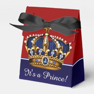 Boy紫系統の金ゴールドの王冠の小さい王子のベビーシャワー