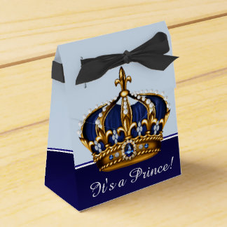 Boy青い金ゴールドの王冠の小さい王子のベビーシャワー