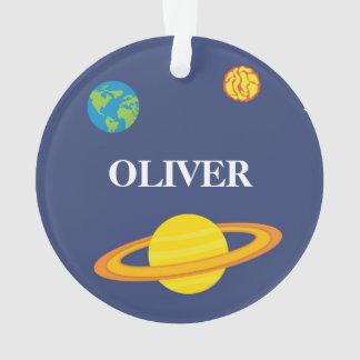 Boy Christmas Ornament Space Planets オーナメント