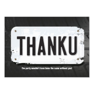 Boy License Plate Thank You Cards カード