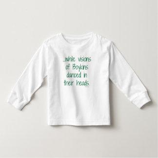 Boykinsのクリスマスのティーの幼児の視野 トドラーTシャツ