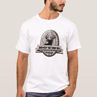 Boyne -木の木びき台のロゴ tシャツ