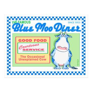 Boynton著青いMOOのダイナー ポストカード