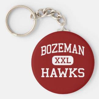 Bozeman -タカ-高等学校- Bozemanモンタナ ベーシック丸型缶キーホルダー