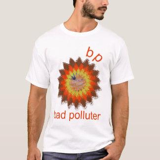 BPの破壊される悪い汚染者のロゴのティー Tシャツ
