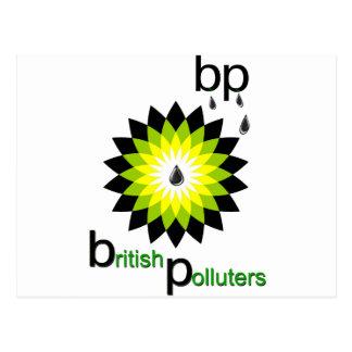BP: イギリスの汚染者 ポストカード