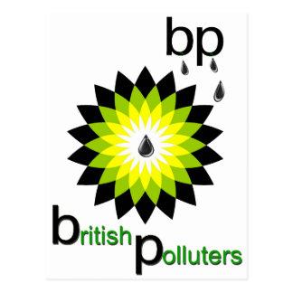 BP: イギリスの汚染者 葉書き