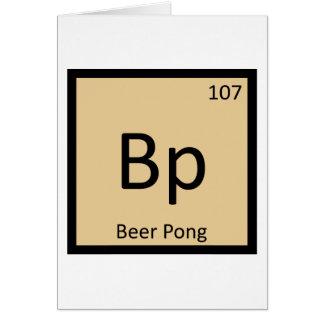 Bp -ビールPongは化学周期表を遊ばします カード