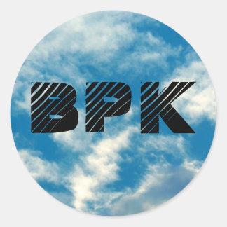 BPKの空のステッカー ラウンドシール