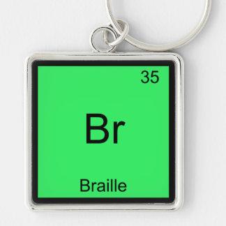 Br -点字おもしろいな化学要素の記号のティー キーホルダー