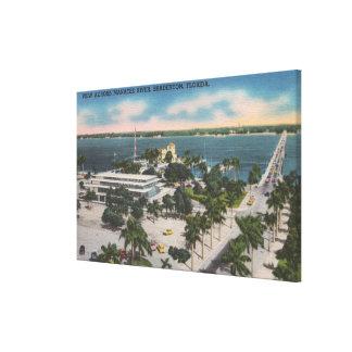 Bradenton、フロリダ-マナティーの川を渡る眺め キャンバスプリント