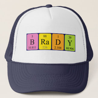 Bradyの周期表の名前の帽子 キャップ