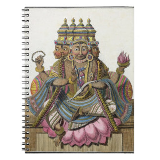 Brahmaの「補助旅行からの作成のヒンズー教の神、 ノートブック