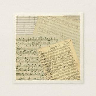 Brahms音楽原稿メドレー スタンダードカクテルナプキン