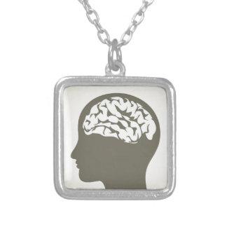 Brain5 シルバープレートネックレス
