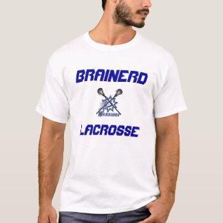 Brainerdのラクロスの性能の長い袖のワイシャツ Tシャツ