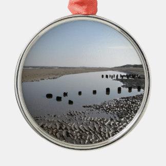 BRANCASTER BEACH-NORFOLK メタルオーナメント
