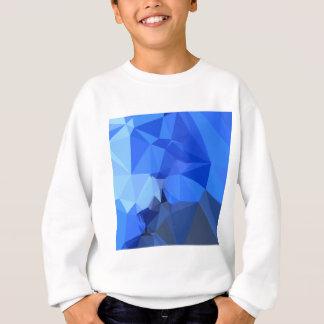 Brandeisの青の抽象芸術の低い多角形の背景 スウェットシャツ