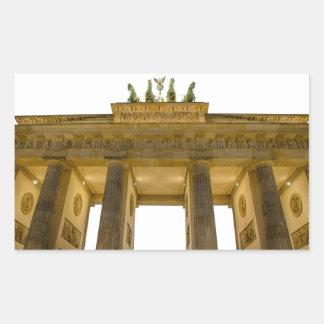 Brandenburgerのゲートドイツ 長方形シール