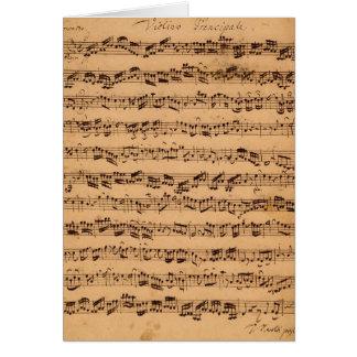 Brandenburgerのコンチェルト、No.5 D-Dur 1721年 カード