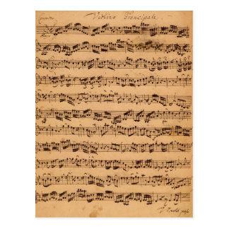 Brandenburgerのコンチェルト、No.5 D-Dur 1721年 ポストカード
