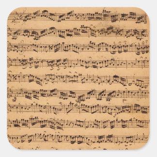 Brandenburgerのコンチェルト、No.5 D-Dur 1721年 正方形シール