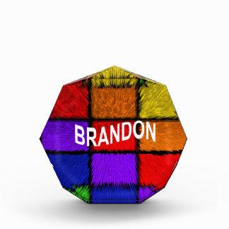 BRANDON (男性の名前) 表彰盾