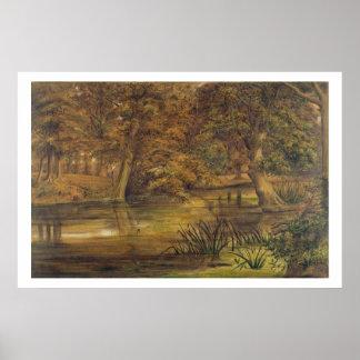 Bratfordの背部水、1864年(w/cおよび鉛筆o ポスター