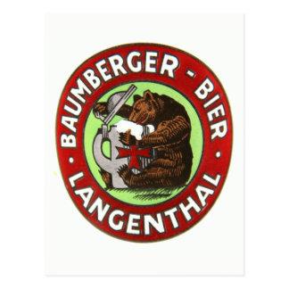 Brauerei Baumberger Langenthal Postkarte ポストカード