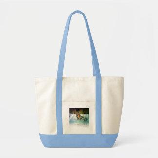 Brave Wolf Handbag Canvas Bags