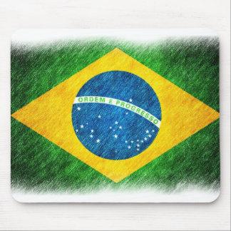 Brazilian_Flag_Pencil_Painting マウスパッド